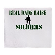 Real Dads Raise Soldiers Throw Blanket