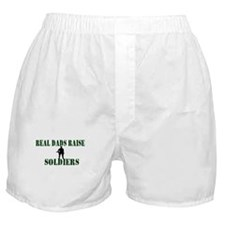 Real Dads Raise Soldiers Boxer Shorts