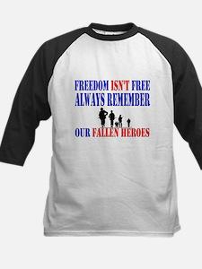Freedom Isnt Free Kids Baseball Jersey