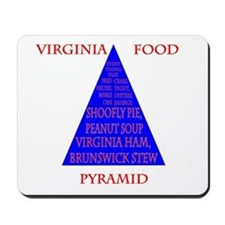 Virginia Food Pyramid Mousepad