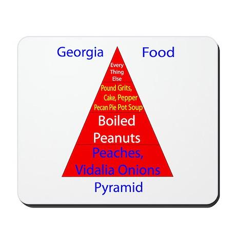 Georgia Food Pyramid Mousepad