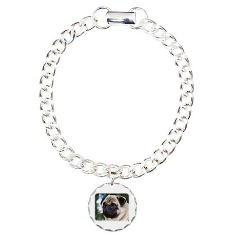 Pug AA014D-008 Charm Bracelet, One Charm