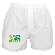 Tuba Plays Well Boxer Shorts