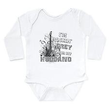 I'm Rockin' Grey for my Husba Long Sleeve Infant B
