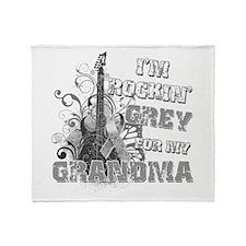 I'm Rockin' Grey for my Grand Throw Blanket