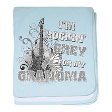 I'm Rockin' Grey for my Grand baby blanket