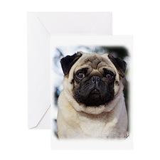 Pug AA014D-018 Greeting Card