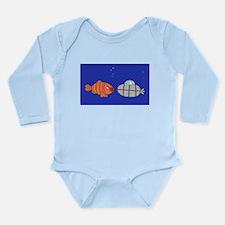 Submarine and Fish Long Sleeve Infant Bodysuit