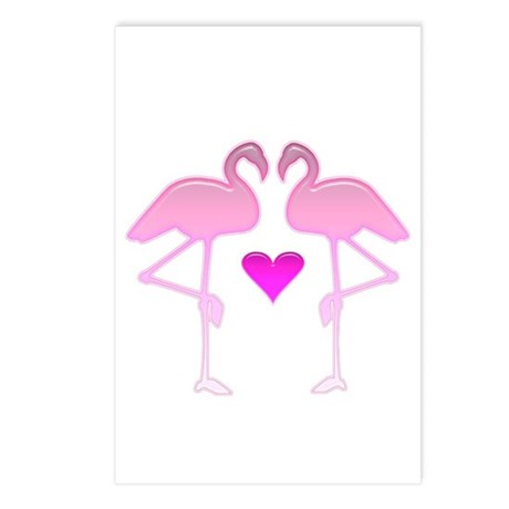 Flamingo Love Postcards (Package of 8)