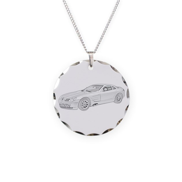 Mercedes benz mclaren colore necklace circle char by for Mercedes benz pendant