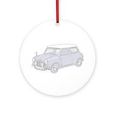 Mini Cooper 1962 -colored Ornament (Round)