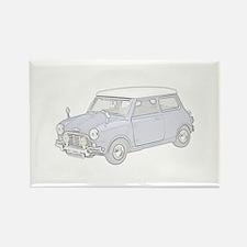 Mini Cooper 1962 -colored Rectangle Magnet