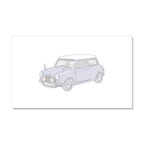 Mini Cooper 1962 -colored Car Magnet 20 x 12