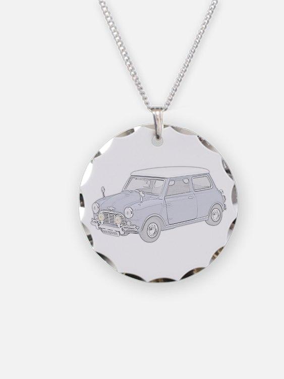 Mini Cooper 1962 -colored Necklace Circle Charm