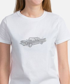 Plymouth Fury 1958 -colored Women's T-Shirt