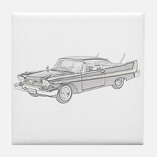 Plymouth Fury 1958 -colored Tile Coaster