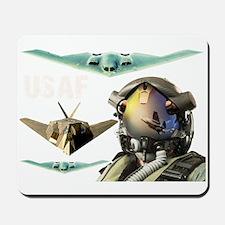 USAF B-2 F-117 F-35 Mousepad