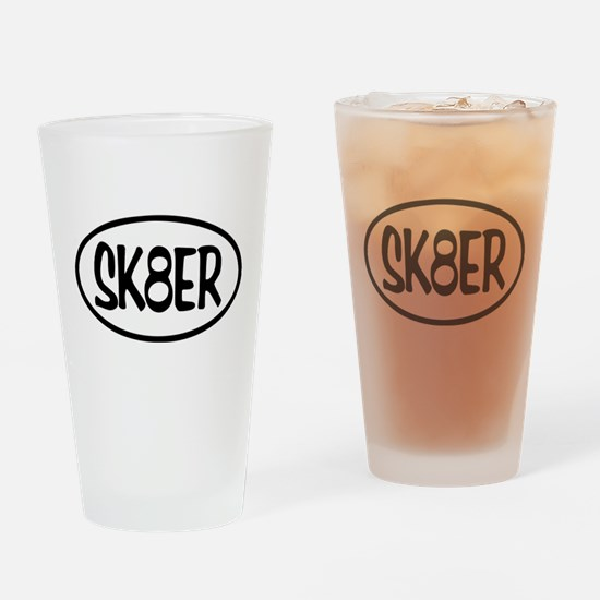 SK8ER Oval Drinking Glass