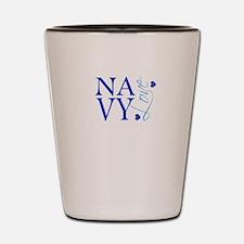 NAVY Love Shot Glass