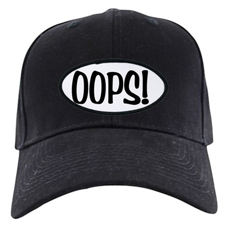 Oops! Oval Black Cap