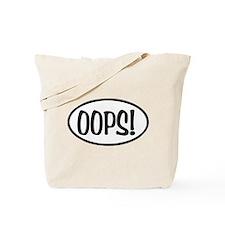 Oops! Oval Tote Bag