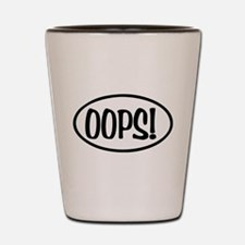 Oops! Oval Shot Glass