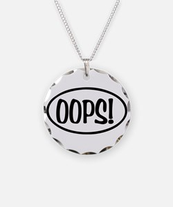 Oops! Oval Necklace