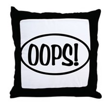 Oops! Oval Throw Pillow