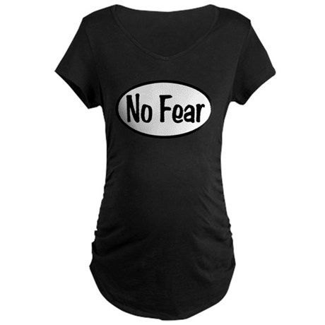 No Fear Oval Maternity Dark T-Shirt