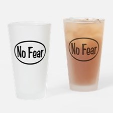 No Fear Oval Drinking Glass