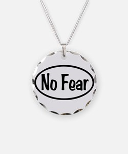 No Fear Oval Necklace