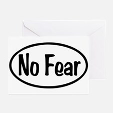 No Fear Oval Greeting Cards (Pk of 10)