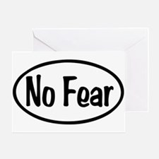 No Fear Oval Greeting Card