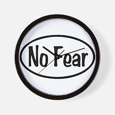 No Fear Oval Wall Clock