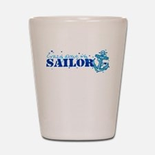 Crazy About My SAILOR Shot Glass