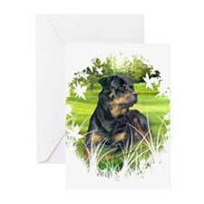 "Rottweiler ""Denali"" Greeting Cards (20)"