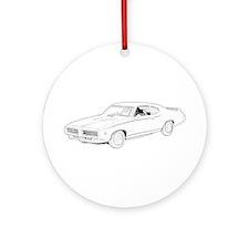1969 Pontiac GTO Judge Ornament (Round)