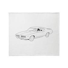 1969 Pontiac GTO Judge Throw Blanket