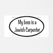 My Boss Oval Aluminum License Plate