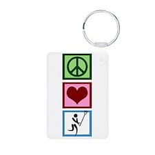 Peace Love Lacrosse Keychains