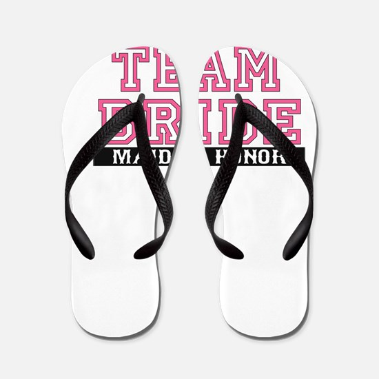 Team Bride: Maid of Honor Flip Flops