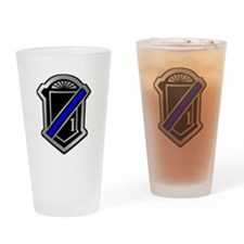 One Blue Line Drinking Glass
