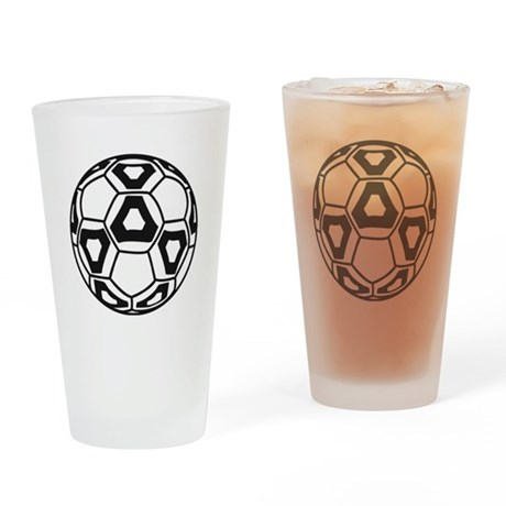Cool New Soccer Ball Drinking Glass