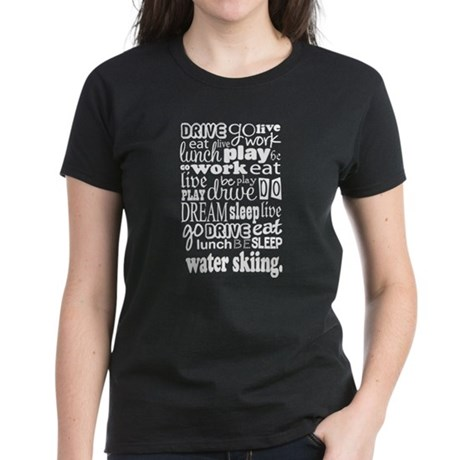 Water Skiing Gift Women's Dark T-Shirt