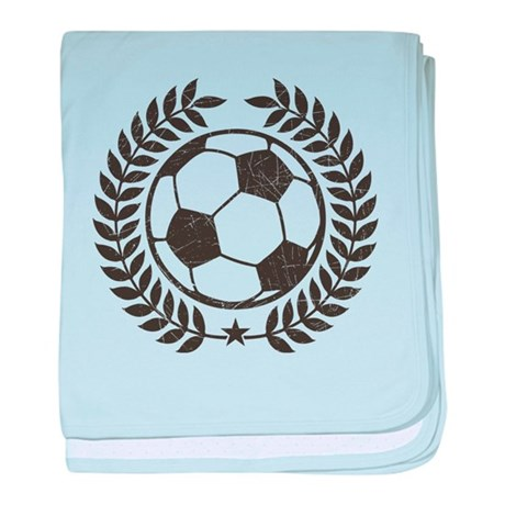 Cool Vintage Soccer Ball baby blanket
