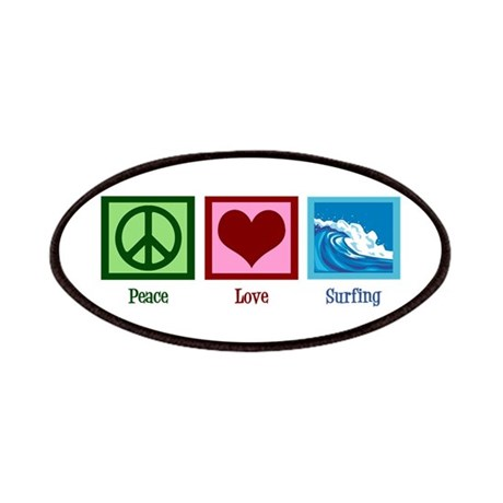 Peace Love Surfing Patches