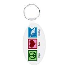 Peace Love Surfing Keychains