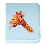 Rude Giraffe baby blanket