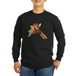 Rude Giraffe Long Sleeve Dark T-Shirt