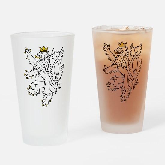 Bohemian Lion Drinking Glass